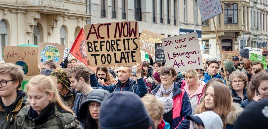 Foto: Schulstreik bei Fridays for Future in Bonn fürs Klima