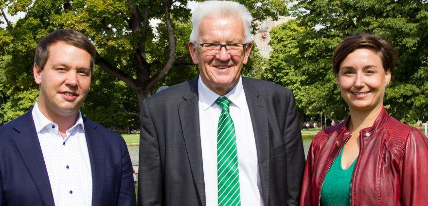 Foto: Sandra Detzer, Winfried Kretschmann und Oliver Hildenbrand