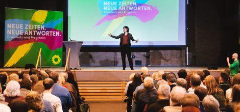 Foto: Annalena Baerbock auf-derRegionalkonferenz zum Grundsatzprogramm