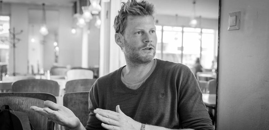Foto: Christian Felber im Interview