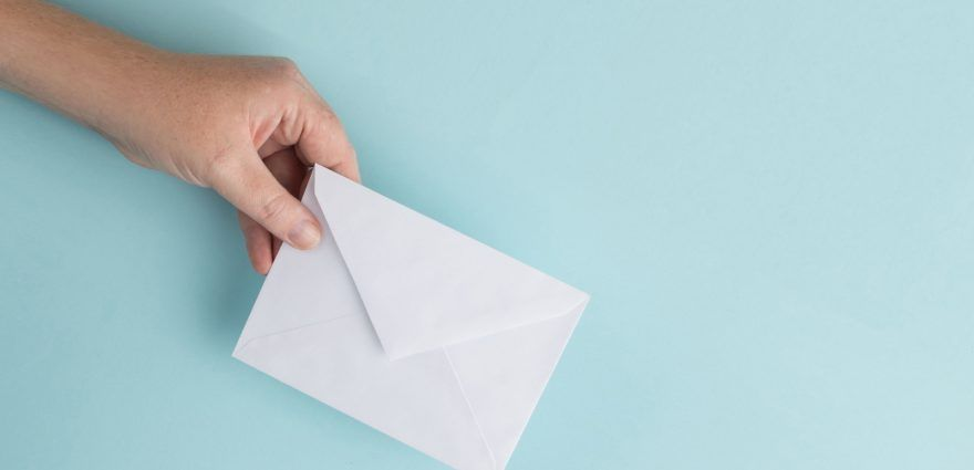 Umschlag für die Briefwahl