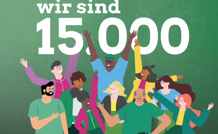 Grafik: 1500 grüne Mitglieder