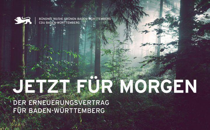 Foto: Zeit für morgen - der Erneuerungsvertrag für Baden-Württemberg - grün-schwarze Koalition 2021-2026