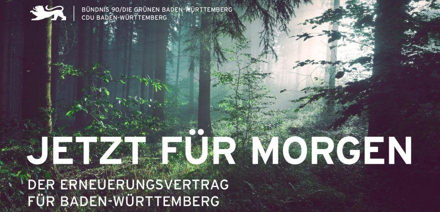 Foto: Jetzt für morgen - der Erneuerungsvertrag für Baden-Württemberg - grün-schwarze Koalition 2021-2026