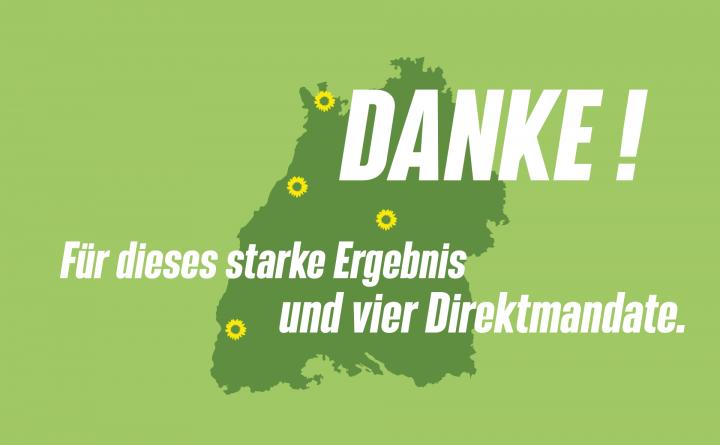 Grafik: Danke für das starkes Bundestagswahlergebnis in Baden-Württemberg